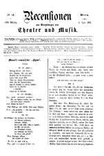 Recensionen und Mittheilungen über Theater und Musik 18650408 Seite: 1