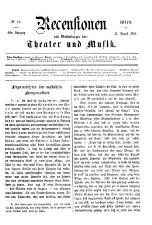 Recensionen und Mittheilungen über Theater und Musik 18650812 Seite: 1