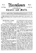 Recensionen und Mittheilungen über Theater und Musik 18650826 Seite: 1