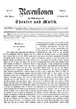 Recensionen und Mittheilungen über Theater und Musik 18651216 Seite: 1