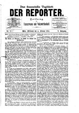 Der Reporter. Wochenschrift für Handel, Industrie