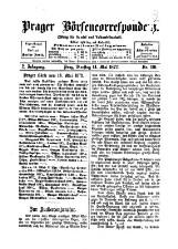 Prager Börsencorrespondenz: Zeitung für Handel und Volkswirtschaft