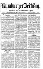Rumburger Zeitung
