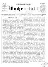 Siebenbürgisch-Deutsches Wochenblatt
