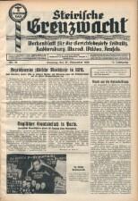 Steirische Grenzwacht 19381127 Seite: 1