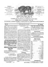 Sportblatt: Centralblatt für die Interessen der Pferdezucht und des Sports