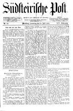 Südsteirische Post 18940728 Seite: 1