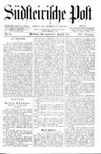 Südsteirische Post 18940808 Seite: 1