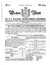 Wochen-Blatt der Kaiserlich-Königlichen Steiermärkischen Landwirthschafts-Gesellschaft