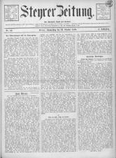 Steyrer Zeitung 18791023 Seite: 1
