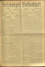 Salzburger Volksblatt: unabh. Tageszeitung f. Stadt u. Land Salzburg 19100826 Seite: 1