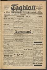 Tagblatt. Generalanzeiger für das Burgenland 19300103 Seite: 1
