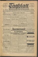 Tagblatt. Generalanzeiger für das Burgenland 19300104 Seite: 1