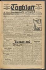 Tagblatt. Generalanzeiger für das Burgenland 19300110 Seite: 1