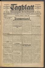 Tagblatt. Generalanzeiger für das Burgenland 19300111 Seite: 1