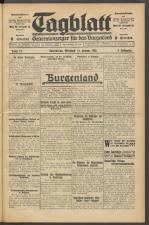 Tagblatt. Generalanzeiger für das Burgenland 19300115 Seite: 1