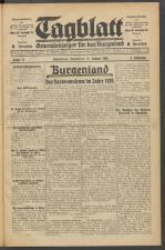 Tagblatt. Generalanzeiger für das Burgenland 19300116 Seite: 1
