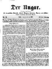 Der Ungar. Zeitschriftliches Organ für magyarische Interessen