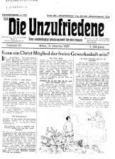 Die Unzufriedene 19271015 Seite: 1