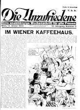 Die Unzufriedene 19330114 Seite: 1
