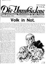 Die Unzufriedene 19330122 Seite: 1