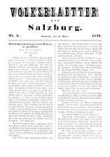 Volksblätter aus Salzburg