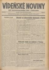 Vídenské Noviny 19381108 Seite: 1