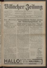 Villacher Zeitung 19330301 Seite: 1