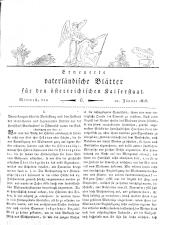 Vaterländische Blätter 18180121 Seite: 1