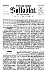 Oesterreichisch-ungarisches Volksblatt für Stadt und Land