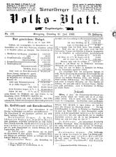 Vorarlberger Volksblatt 18930620 Seite: 1