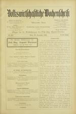 Volkswirtschaftliche Wochenschrift 18921229 Seite: 1