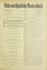 Volkswirtschaftliche Wochenschrift 18930323 Seite: 1