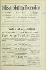 Volkswirtschaftliche Wochenschrift