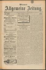 Wiener Allgemeine Zeitung 18890427 Seite: 1