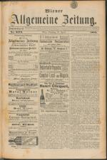 Wiener Allgemeine Zeitung 18890430 Seite: 1