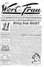 Das Wort der Frau 19310927 Seite: 1