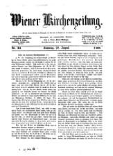 Wiener Kirchenzeitung für Glauben, Wissen, Freiheit und Gesetz