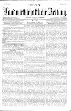 Wiener Landwirtschaftliche Zeitung 18900712 Seite: 1