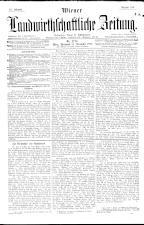 Wiener Landwirtschaftliche Zeitung 18921228 Seite: 1