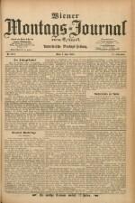 Wiener Montags-Journal