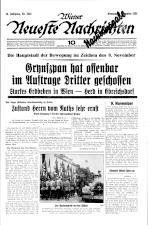 Wiener neueste Nachrichten 19381108 Seite: 1