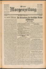 Wiener Morgenzeitung 19250227 Seite: 1