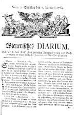 Wiener Zeitung 17640107 Seite: 1