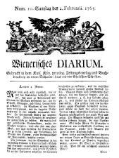 Wiener Zeitung 17650202 Seite: 1