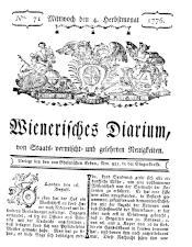 Wiener Zeitung 17760904 Seite: 1