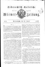Wiener Zeitung 18160731 Seite: 1