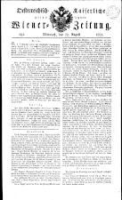 Wiener Zeitung 18210822 Seite: 1