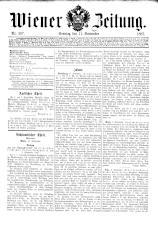 Wiener Zeitung 18870911 Seite: 1