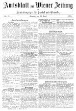 Wiener Zeitung 19150425 Seite: 23